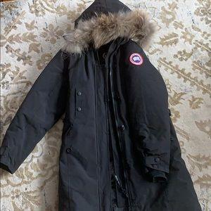 Canada goose black womenswear coat